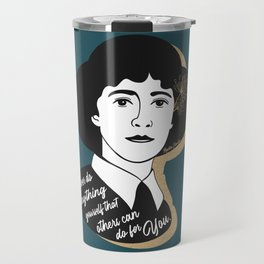 Never Do Anything Yourself - Agatha Christie - Teal Travel Mug