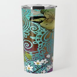 BIRD WITH CHERRY BLOSSOMS Travel Mug