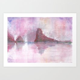 Abstract Red Landscape Art Print