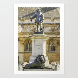Oliver Cromwell Statue Art Print