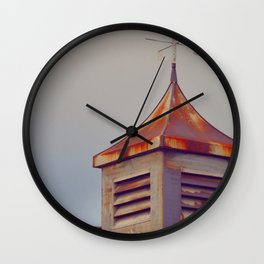 Rusted Rooftop Wall Clock