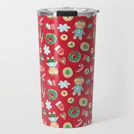 Cookies - Xmas Pattern Travel Mug