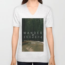 Wander with Purpose Unisex V-Neck