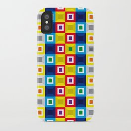 Squares Pattern iPhone Case