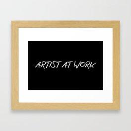 Artist At Work Framed Art Print