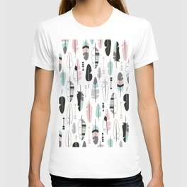 Arrows and feathers summer pattern T-shirt