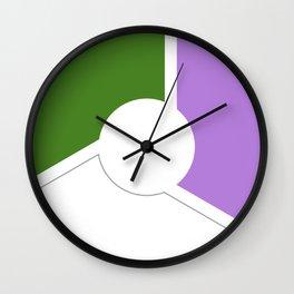 Genderqueer Pride Flag Ciercle Wall Clock