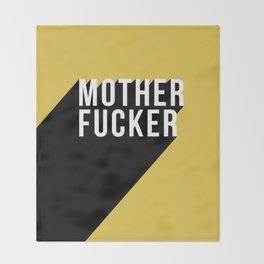 MOTHER FUCKER | Digital Art Throw Blanket