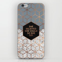 She Believed She Could 4 iPhone Skin