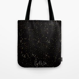 Sprinkly Gold Dots - on Black Tote Bag
