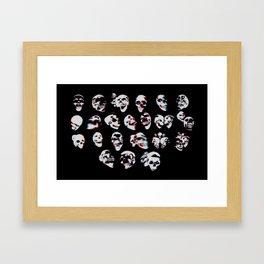 3D Skulls Framed Art Print