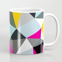 comic book Mugs featuring Comic Book Tris by Beth Thompson