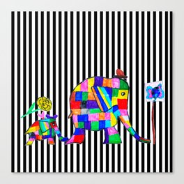 Elephant Festival |Family Walk | #society6 Canvas Print
