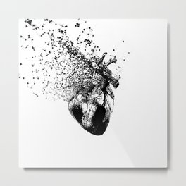 Fragmented heart Metal Print