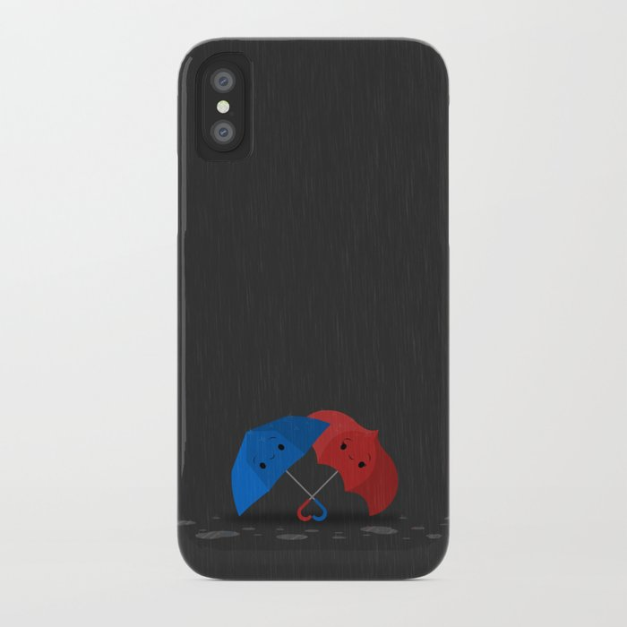 Blue&Red iPhone Case