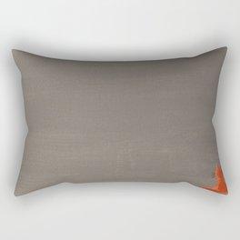 Orange Cat from the Cat+Girl Book Rectangular Pillow