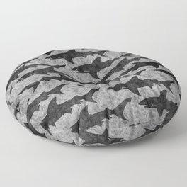 Gray and Black Shark Pattern Floor Pillow