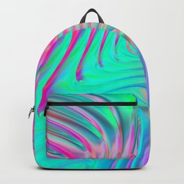 Abstract Colorful Waves Backpack