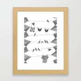 Clothing Line Framed Art Print