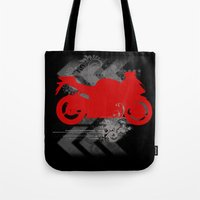 racing Tote Bags featuring Racing by Ezgi Kaya