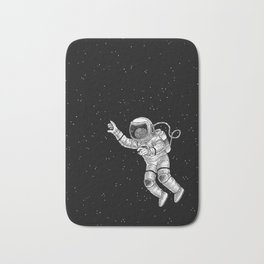 Astronaut in the outer space Bath Mat