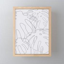 Monstera Illustration 02 Framed Mini Art Print