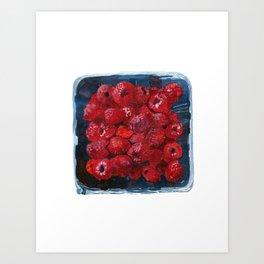 Watercolor Raspberries by Artume Art Print