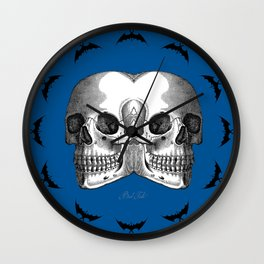 Double Trouble / BLUE Wall Clock