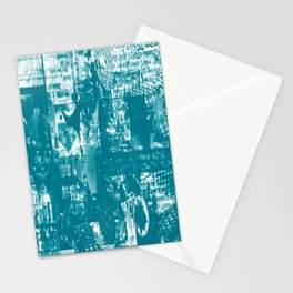 Paragon City Is Calling [Now In Duotone - Teal] Stationery Cards
