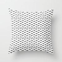 bats Throw Pillows featuring Bats by Kya Owl