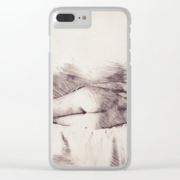 Lying on the bed. Nude studio Clear iPhone Case