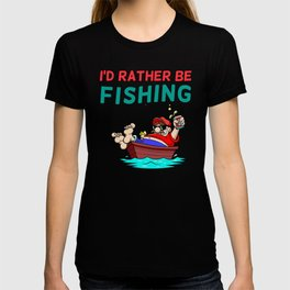 I'd Rather be Fishing Design T-shirt