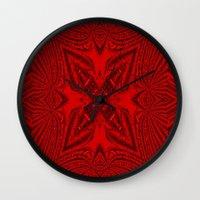 darren criss Wall Clocks featuring Criss Cross.... by Cherie DeBevoise