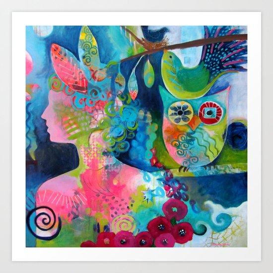 Goddess of the Birds Art Print