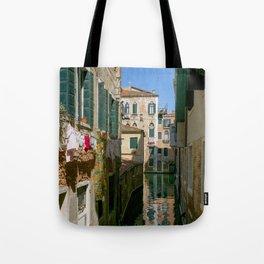 Windows and Venice, urban photography, street scene, colorful, wall art, design, street photo Tote Bag