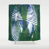 wave Shower Curtains featuring Wave by Sandra Hedicke Clark