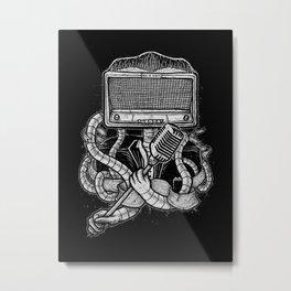 Rocker robot Metal Print