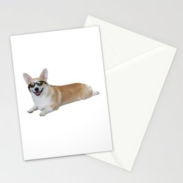 Cool Corgi Stationery Cards