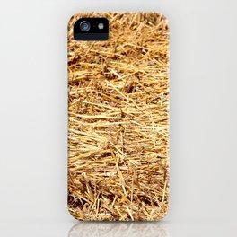 Ein Bett im Kornfeld / a bed in the hay iPhone Case