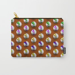 Marbles on Wood Pattern Carry-All Pouch