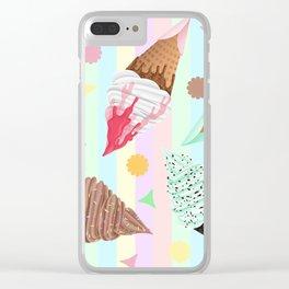 KUTE KAWAII ICE CREAM Clear iPhone Case