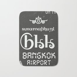 BKK Bangkok black Bath Mat