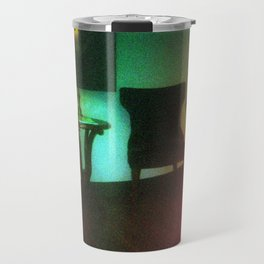 Damaged Disposable Camera Film - Waiting Room Travel Mug
