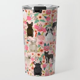 French Bulldog must have florals gifts dog breed pet lover frenchies forever Travel Mug