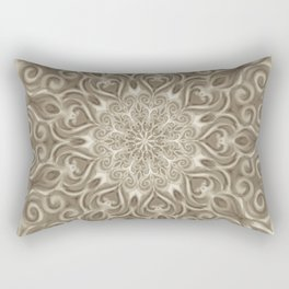 Beige swirl mandala Rectangular Pillow
