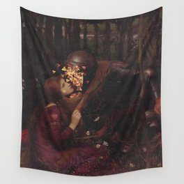 Crawl Into Bed Wall Tapestry