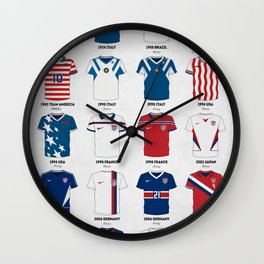The Evolution of the Us World Cup Soccer Jersey Wall Clock