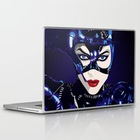 catwoman Laptop & iPad Skins featuring Catwoman  by Jordi Hayman Design