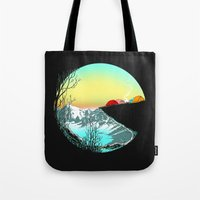 camp Tote Bags featuring Pac camp by carbine