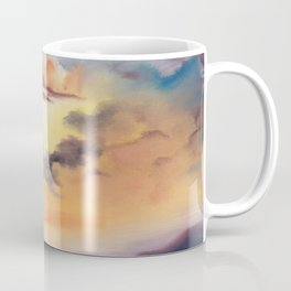 cloud dreaming, skyscape, ocean sunset, purple sunset, clouds artwork, sky painting Coffee Mug